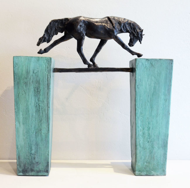Lisa Gordon Sculpture Straight and Narrow Bronze
