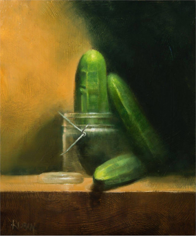 Marc Rubin Painting Beguiled Oil on Board
