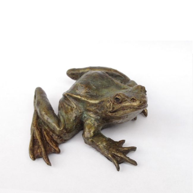 Mark Dziewior Sculpture Leopard Frog II Bronze