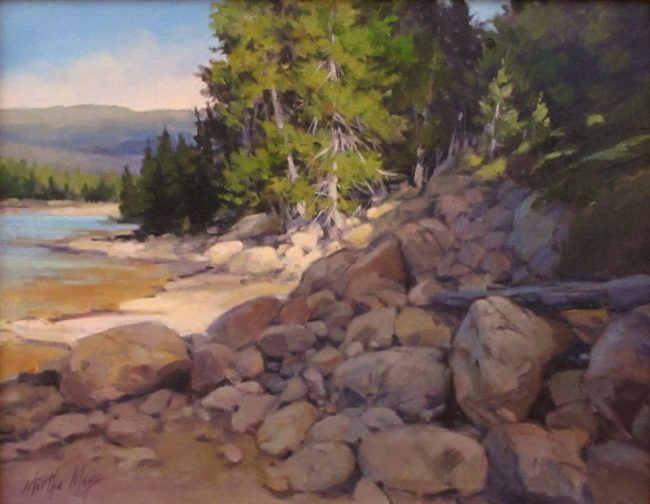 Martha Mans Painting Morning Serenity Oil on Canvas
