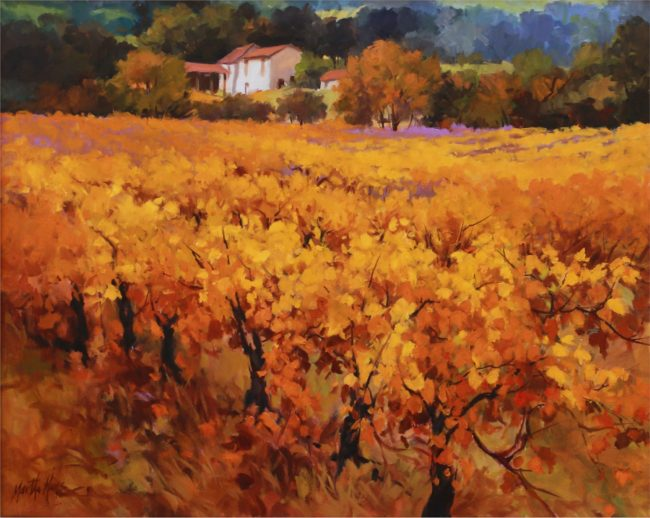 Martha Mans Painting Vineyard Gold Oil on Canvas