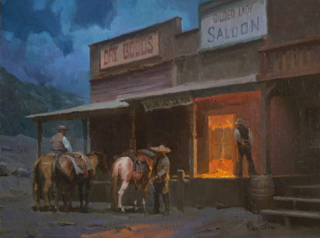 Mian Situ Painting The Saloon Oil on Canvas