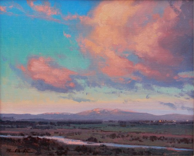 Michael Albrechtsen Painting Evening Begins Oil on Panel