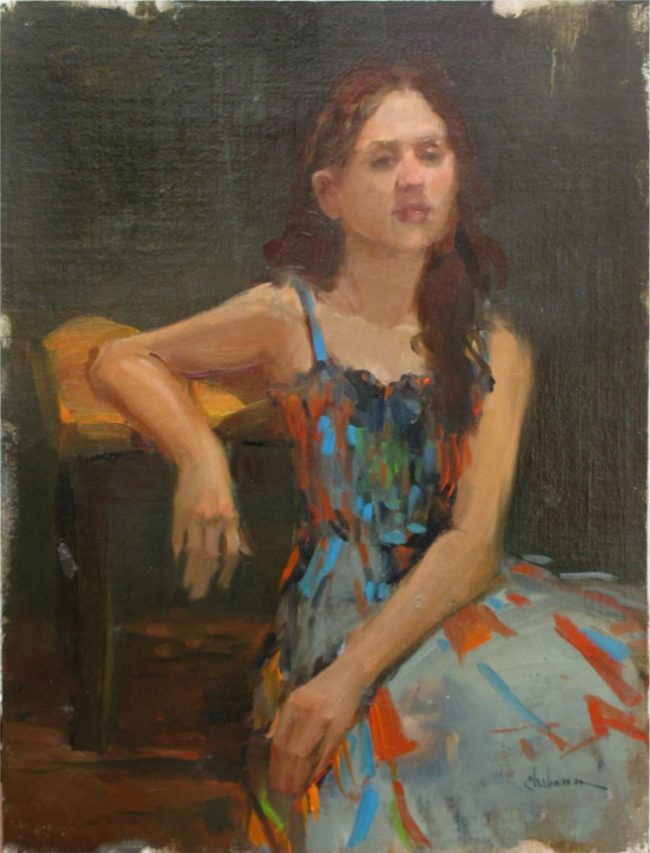 Nancy Chaboun Painting Confetti Dress Oil on Board