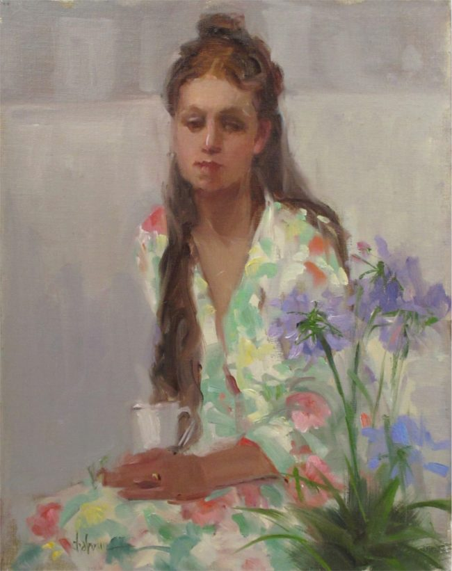 Nancy Chaboun Painting Monday Morning Oil on Board