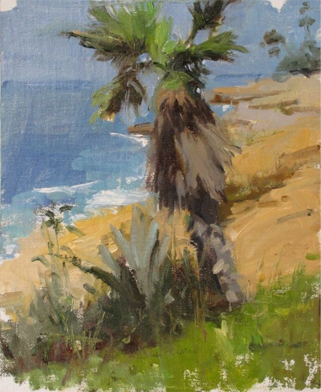 Nancy Chaboun Painting Palm Coast Oil on Board