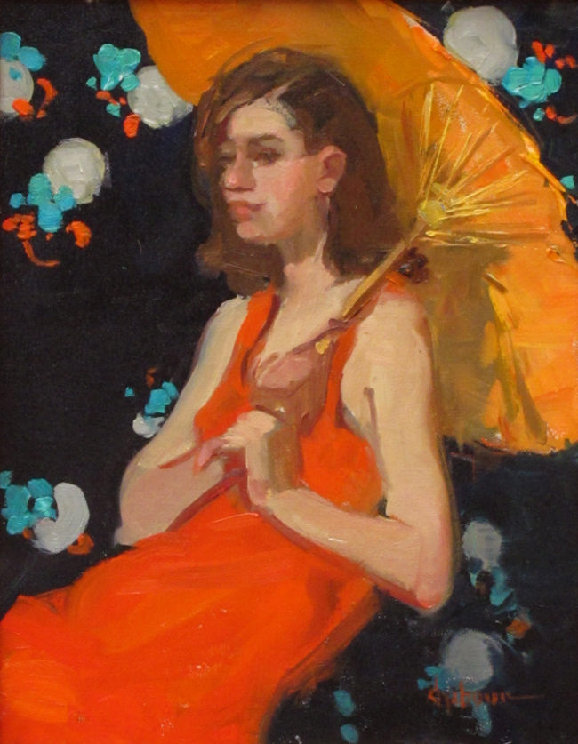Nancy Chaboun Painting Tangerine Dreams Oil on Board