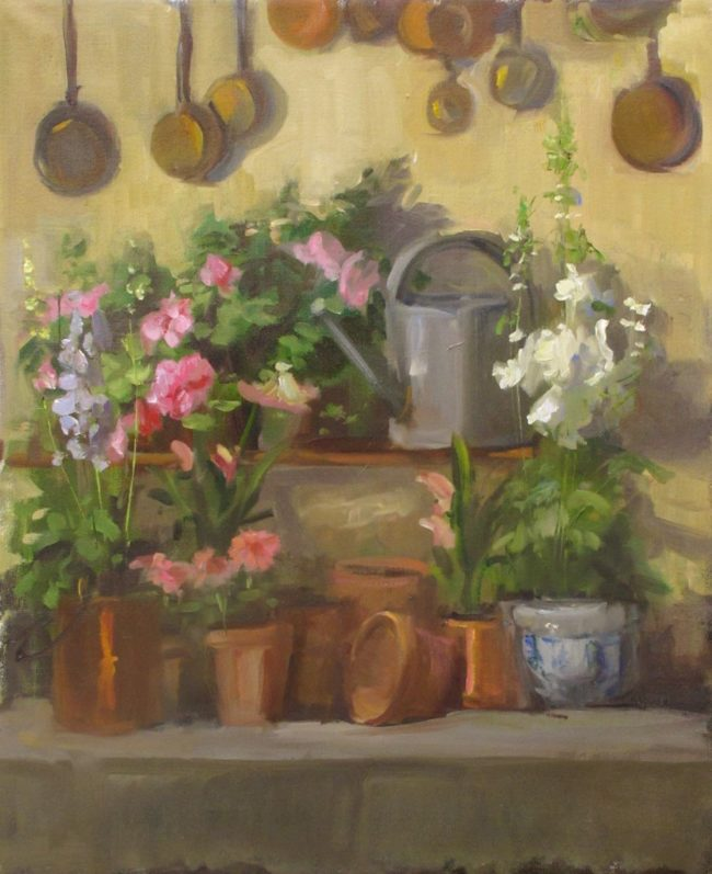 Nancy Chaboun Painting The Potting Bench Oil on Canvas