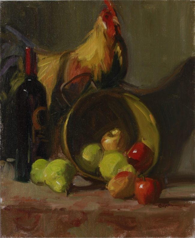 Nancy Chaboun Painting They Peared Well Oil on Board