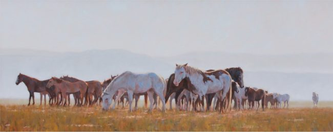 Nathan Solano Painting Nothing But Horses Oil on Canvas