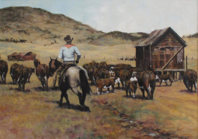 Richard Thomas  Past Old Relics Oil on Canvas