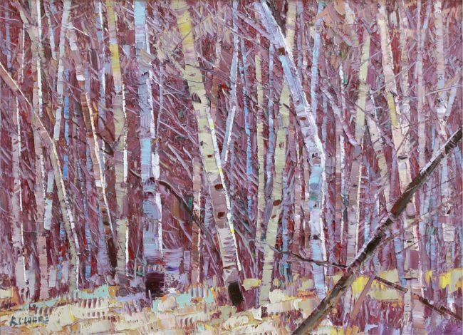 Robert Moore Painting Among The Trees Oil on Canvas