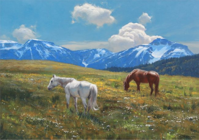 Robert Peters Painting Alpine Radiance Oil on Linen
