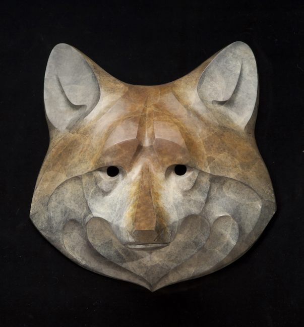 Rosetta Sculpture Wolf Mask Bronze