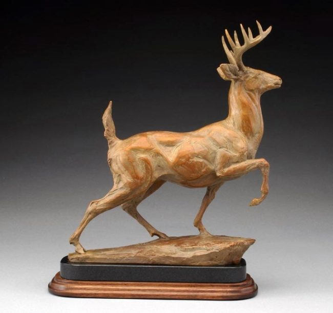 Sandy Scott Sculpture Whitetail Bronze