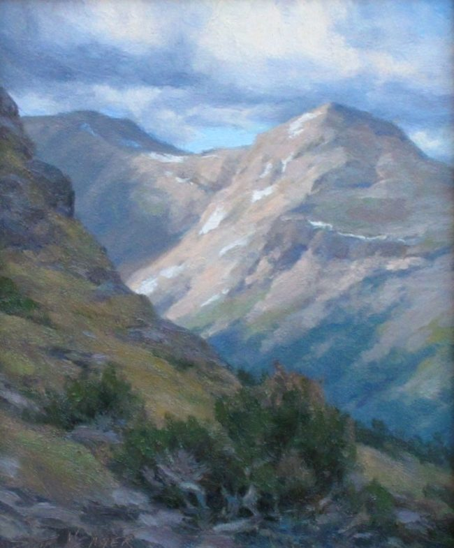 Scott Yeager Painting Continental Divide Oil on Board