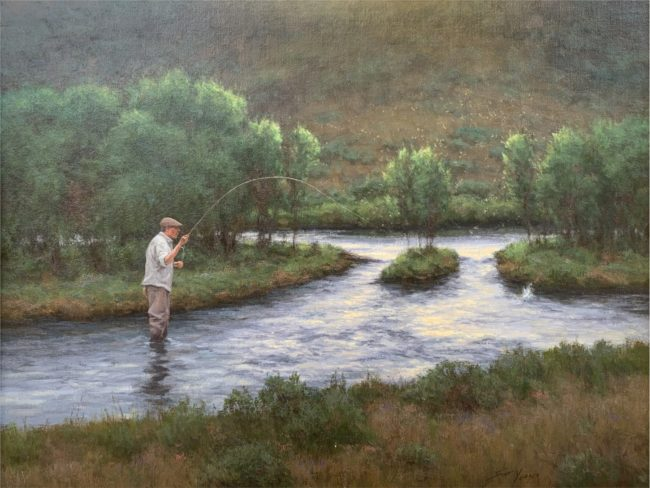 Scott Yeager Painting It's All About the Bugs Oil on Linen