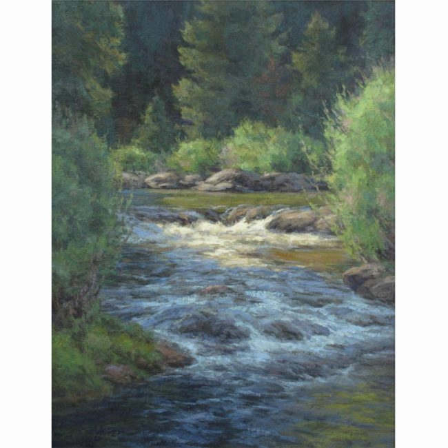 Scott Yeager Painting Summer Stream Oil on Canvas