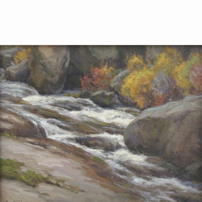 Scott Yeager Painting Water and Granite Oil on Board