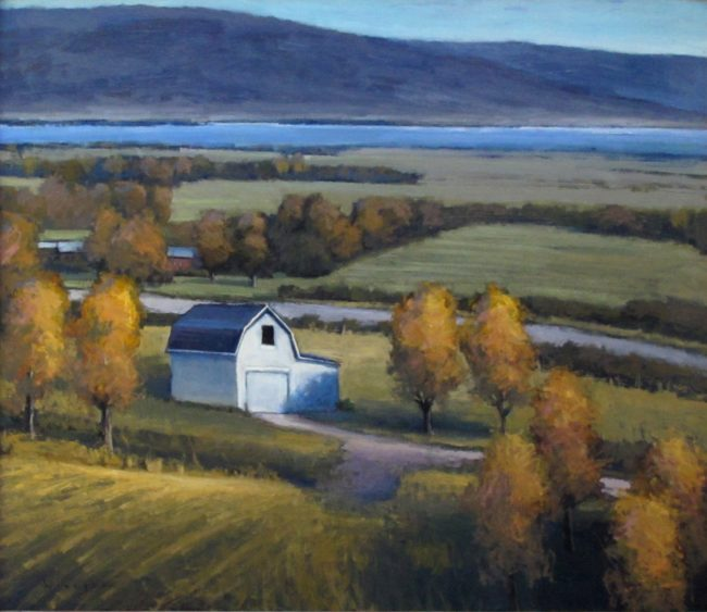 Seth Winegar Painting Autumn Morning Oil on Panel