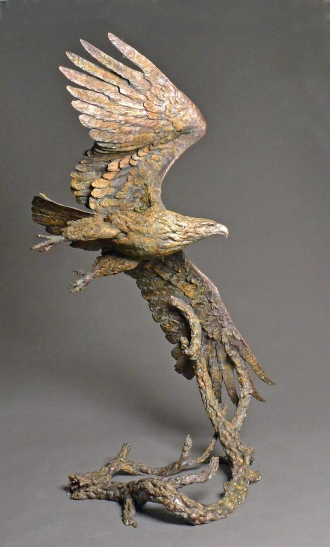 Stefan Savides Sculpture Top Gun Bronze