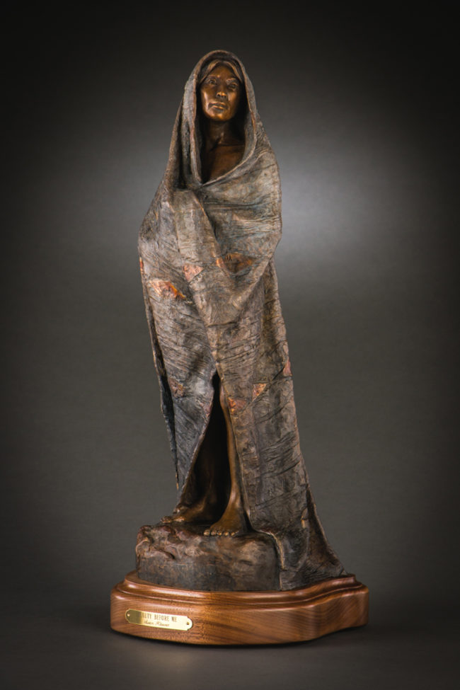 Susan Kliewer Sculpture Beauty Before Me Bronze