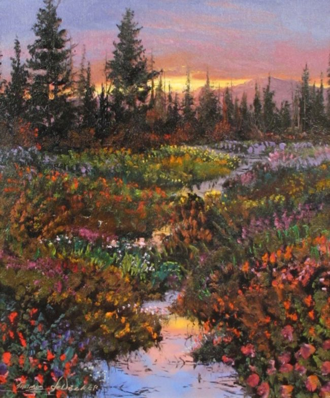Thomas DeDecker Painting Days Light - Ending Oil on Canvas