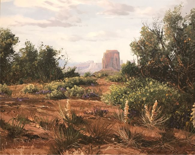 Thomas DeDecker Painting Monument Valley Oil on Board