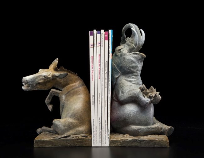 Greg Kelsey Sculpture The Adventures of Dumbo & Jackass - Our Political Circus (Pair) Bronze