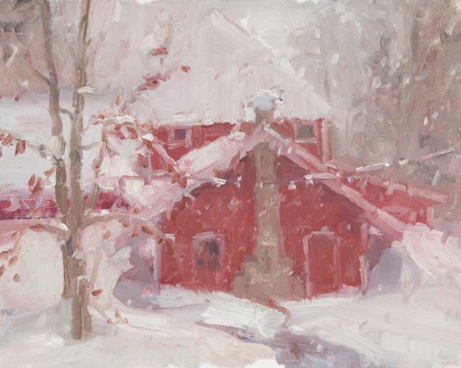 Chula Beauregard Painting January Oil on Canvas