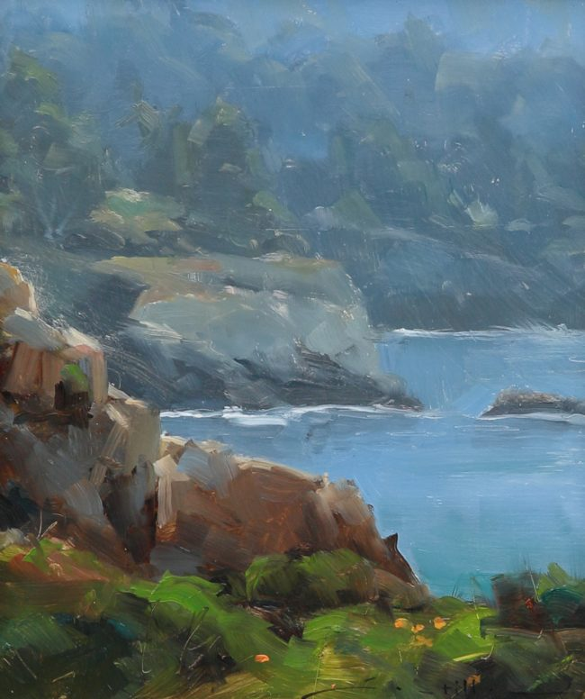 Dave Santillanes Painting Point Lobos Oil on Panel