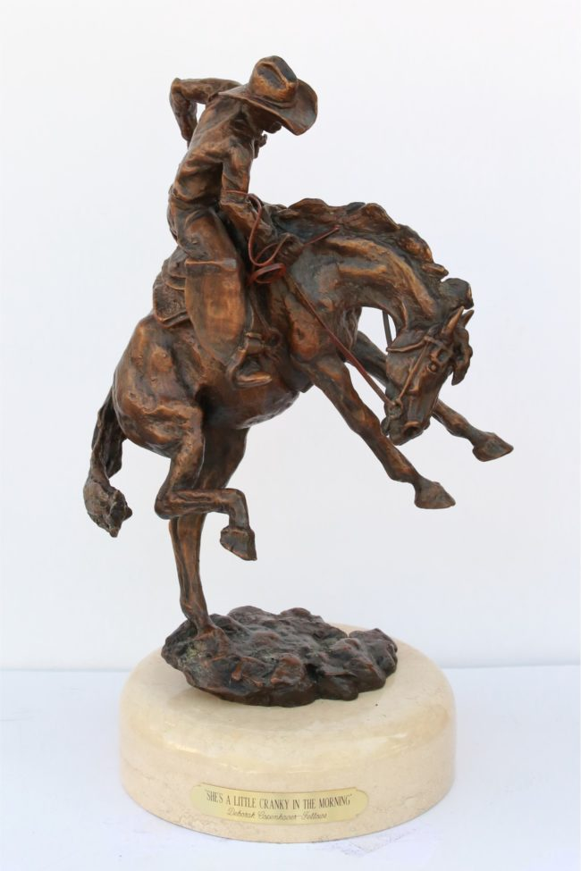 Deborah Copenhaver-Fellows Sculpture She's a Little Cranky in the Morning Bronze