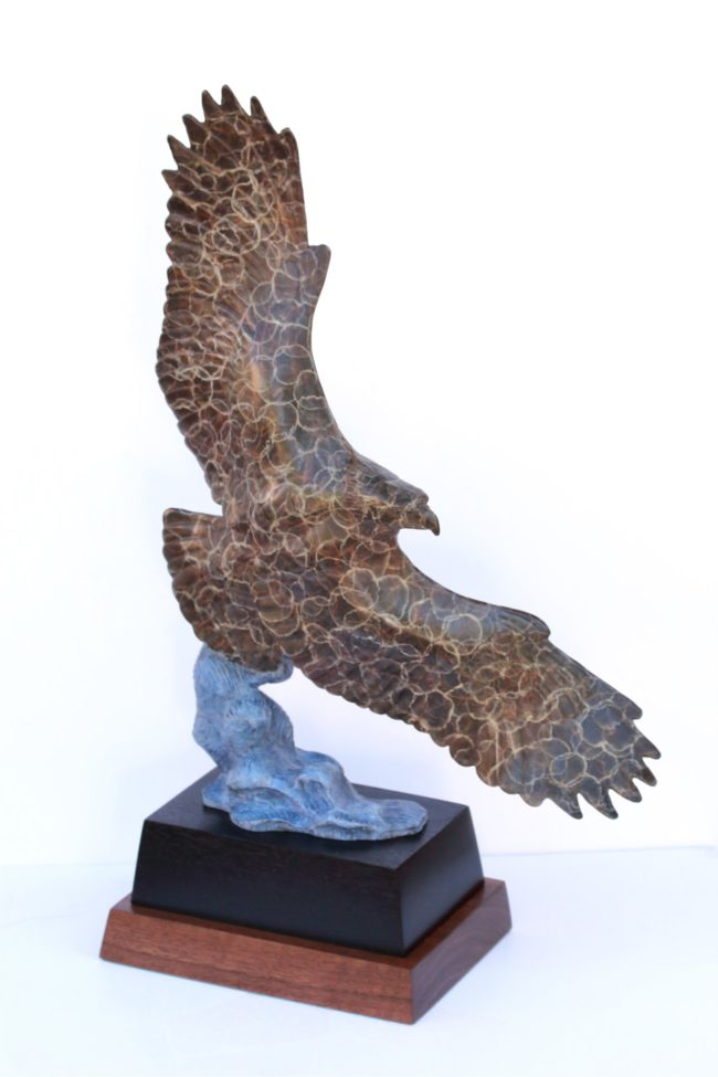 Gerald Balciar Sculpture Fly By Bronze