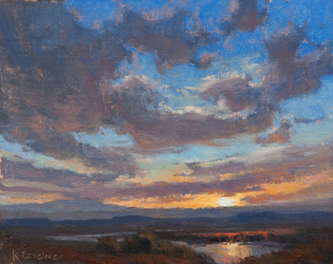 Kim Casebeer Painting Big Skies Oil on Canvas