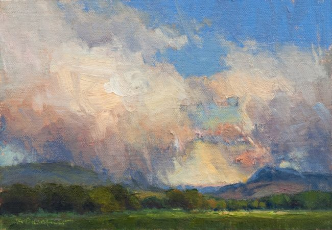 Kim Casebeer Painting Yampa Valley Evening Oil on Canvas