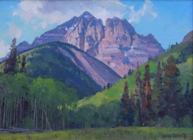Lanny Grant Painting Pyramid Peak Oil on Board