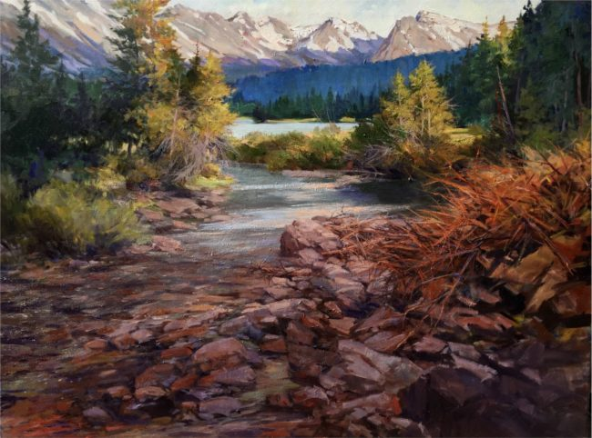 Martha Mans Painting Morning Solitude - Indian Peaks Oil on Canvas