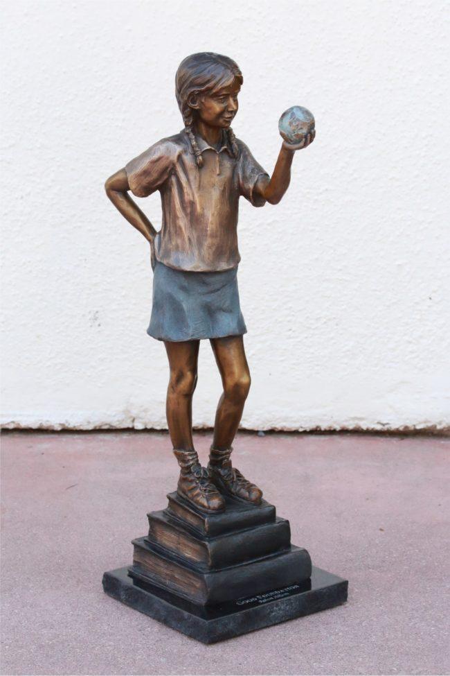 Robert Allison Sculpture Good Foundations Bronze