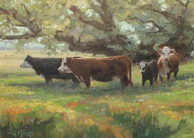 Robert Moore Painting Summer Pasture Oil on Canvas