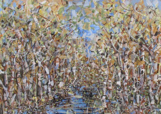 Sara Ware Howsam Painting Aspen Frenzy Acrylic on Paper