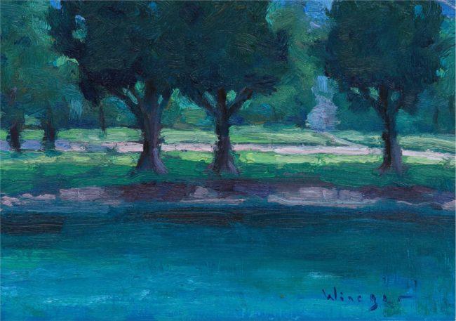 Seth Winegar Painting Blue Water Study Oil on Panel