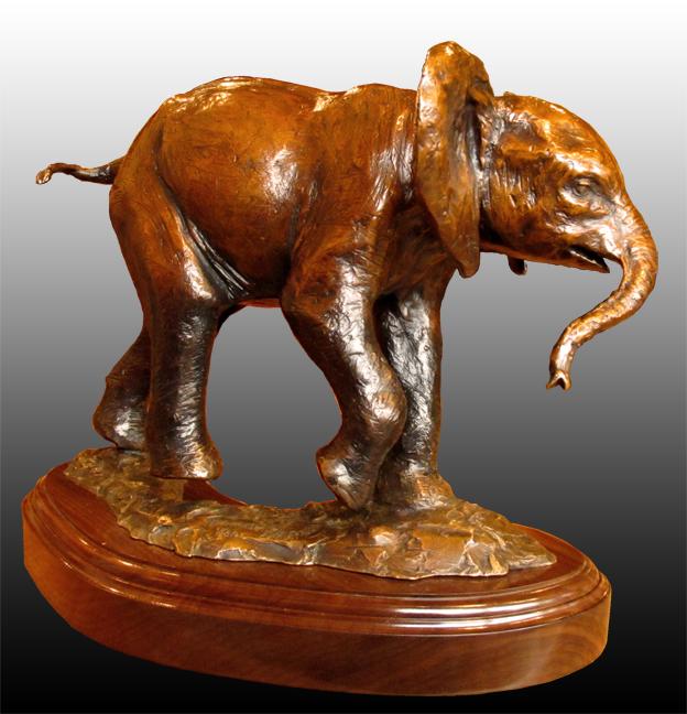 Andrea Wilkinson Sculpture Charging Practice Bronze