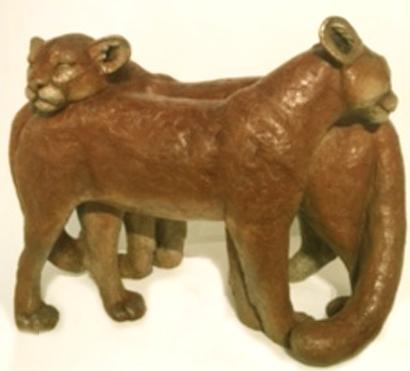 Andrea Wilkinson Sculpture Passing Fancy Bronze