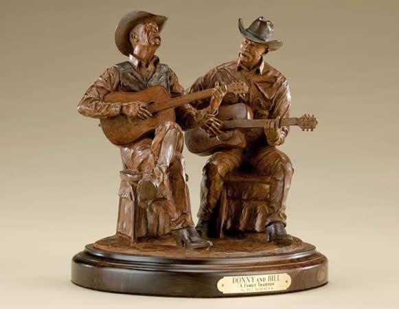 Bill Nebeker CA Sculpture Donny and Bill Bronze