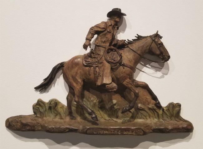 Bill Nebeker CA Sculpture Livin' the Life Bronze