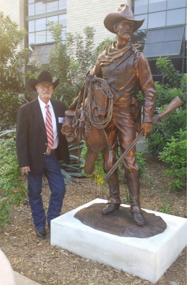 Bill Nebeker CA Sculpture The Eyes of Texas Bronze