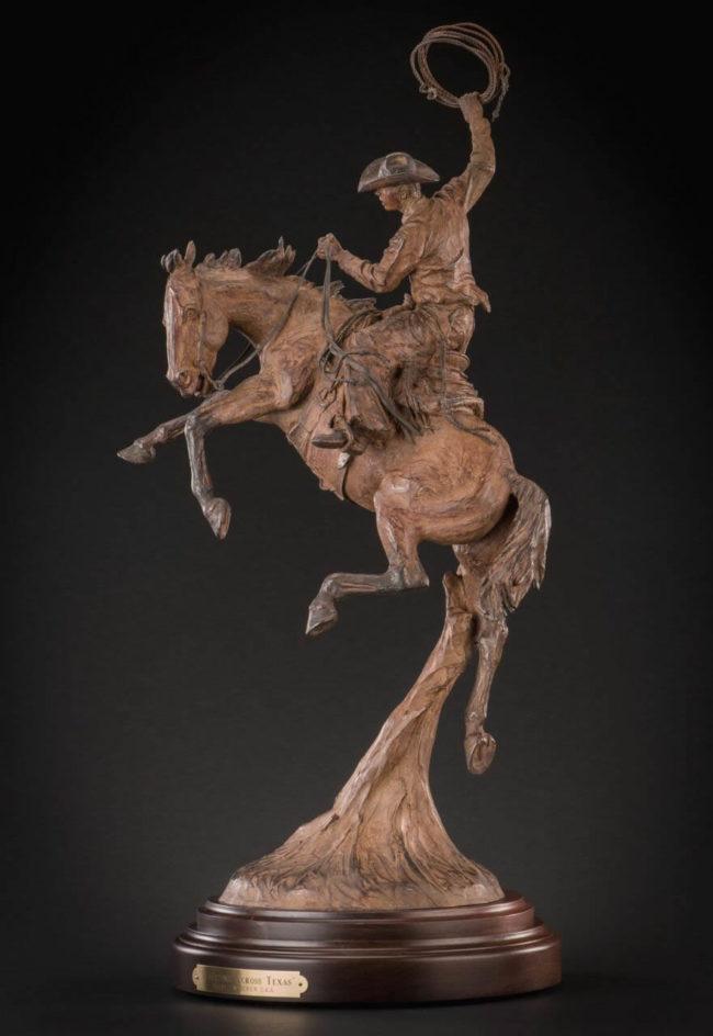Bill Nebeker CA Sculpture Waltzing Across Texas Bronze
