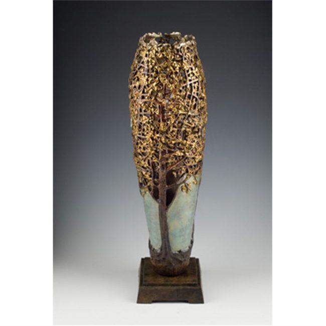 Carol Alleman Sculpture Ginkgo: Seed of Hope Bronze