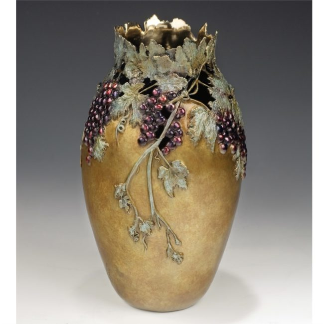 Carol Alleman Sculpture In Vino Veritas Bronze