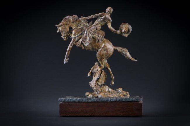 Curt Mattson Sculpture Powder Keg Bronze